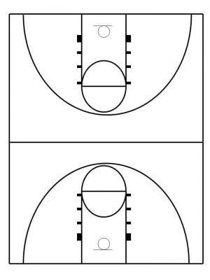 What To Buy To Make Your Own Basketball Court With Stencils Layouts Dimensions Basketball Court Layout Basketball Plays Basketball Court Backyard