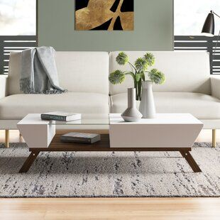 Sarina Coffee Table Allmodern In 2020 Coffee Table Coffee Table With Storage Living Room Essentials