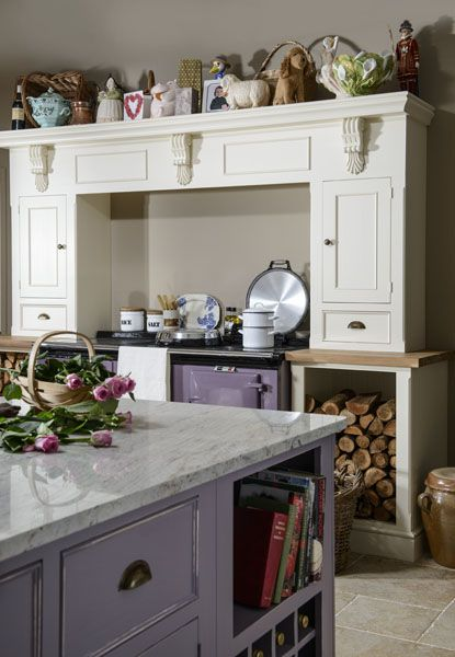 Victorian Painted Kitchen Island And Aga Surround Www