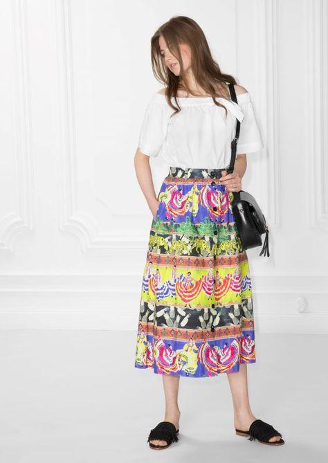 9e88c2822b2dd4 Other Stories Summer Fiesta Flared Skirt in Print