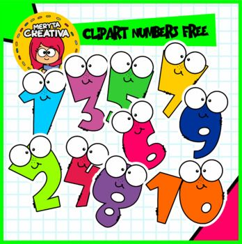 Beautiful Animated Number Clipart Package Ready To Be Used On Different Educational Media The Package Includes The N Free Clip Art Clip Art Clip Art Freebies