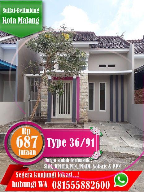 Rumah Murah Di Kota Malang Type 36 91 Hanya 600 Jutaan Rumah Kota Malang