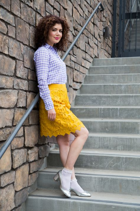 ff2880352 Does a Mustard and Lavender Outfit Work?   ~ Best of Blogging, Fashion &  Lifestyle ~   Lavender outfit, Outfits, Purple color combinations