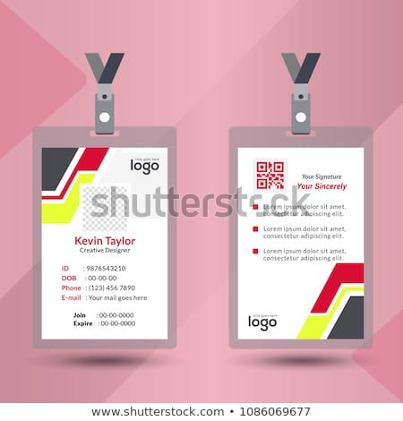 Identification Card With Lanyard Set Isolated Vector Illustration Blank Plastic Access Card Name Tag Holder With Pin Employees Card Cards Identification Card
