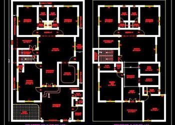 2 Storey House Floor Plan 45 X75 Autocad House Plans Drawings Download House Floor Plans House Plans House Flooring
