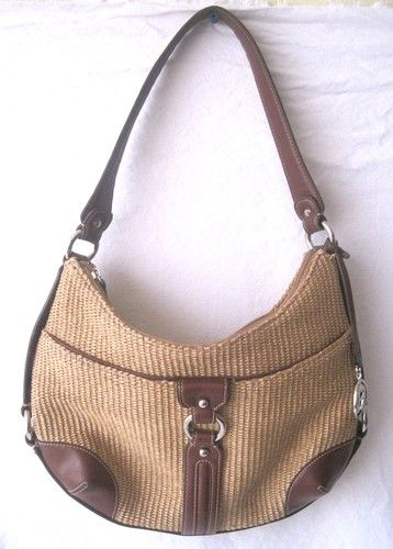 d22059dd00 Etienne Aigner Handbag Straw Bag Hobo Shoulder Medium Brown Exterior Pocket    eBay #Handbags SOLD #sold Please visit my ebay store for more lovely  handbags.