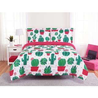 Happy Cactus 3 Piece Comforter Set Kids Comforter Sets Comforter Sets Girls Twin Comforter