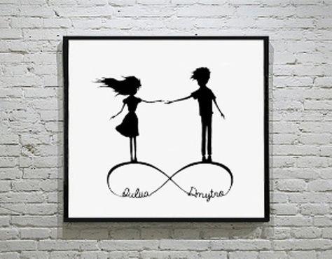 Infinity Love Handmade Original Paper Cut First di DreamPapercut