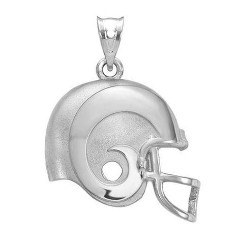 NFL Sterling Silver LogoArt Atlanta Falcons Football Helmet with Logo Pendant