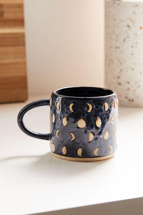 Shop Boho Mug at Urban Outfitters today. Slab Pottery, Pottery Vase, Ceramic Pottery, Ceramics Pottery Mugs, Mugs Sharpie, Mug Diy, Cerámica Ideas, Mug Ideas, Pattern Texture