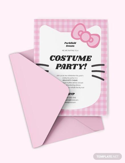 Hello Kitty Party Invitation Invitation Templates