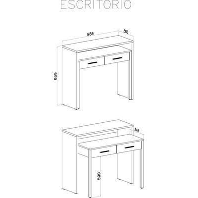 Table Bureau Extensible Coloris Blanc Brillant Dimensions 98 6 X 86 9 X 36 70 Cm De Profondeur Bureau Extensible Table Bureau Console Bureau