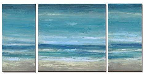 Amazon Com Blue Seascape Ocean Canvas Prints With Embellishment