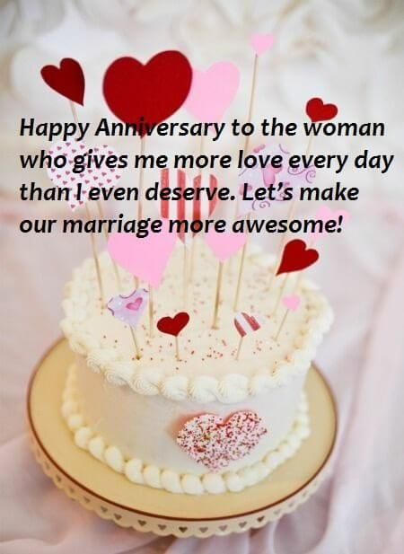 Amazing Marriage Anniversary Cute Cake Wishes Images For Wife With Images Personalised Birthday Cards Bromeletsinfo