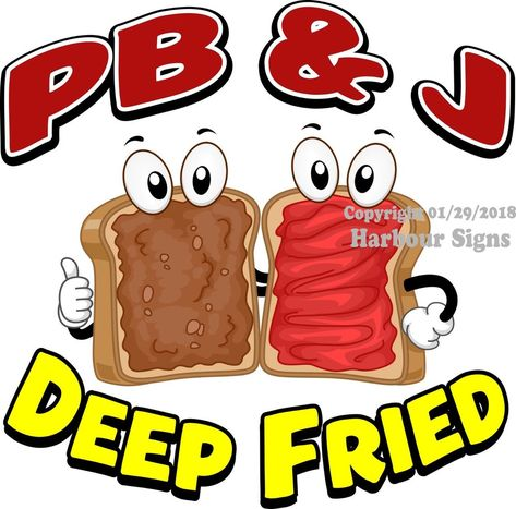 Choose Your Size PB /& J Deep Fried DECAL Food Truck Concession Vinyl Sticker