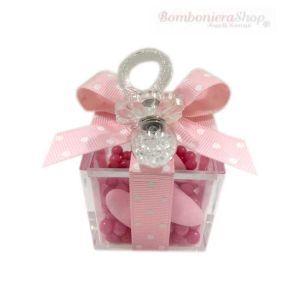Ciuccio Cristallo Rosa Bomboniera Battesimo Bimba Bellissima E Raffinata Bomboniera Battesimo Bimba Ideale Da Donare Ai Tuoi Bomboniere Bomboniera Battesimo