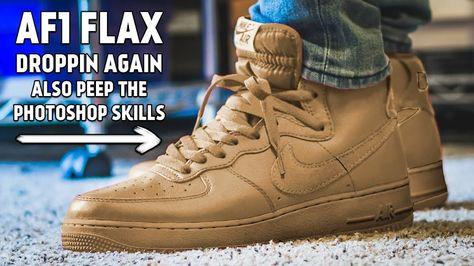 Nike Air Force 1 High Flax Releasing Again 10 1 17