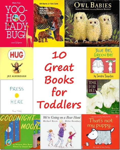 Ten Great Pictures Books for Toddlers that will be loved by adult readers as well as tots!
