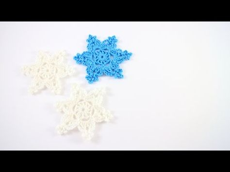 Crochet Snowflakes - Free Pattern and Video Tutorial