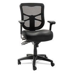 Alera El4215 Elusion Series Mesh Mid Back Multifunction Chair Black Leather Mesh Office Chair Alera Mesh Task Chair
