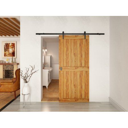 10 Ft Sliding Door Hardware Kit Arrow Style Sliding Barn Door Hardware Barn Wood Door Track Wheel Kit B Home Door Design Sliding Doors Interior Doors Interior