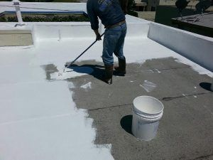 Roof Heat Proofing In 2020 Foam Roofing Thermal Insulation Materials Spray Foam Roofing