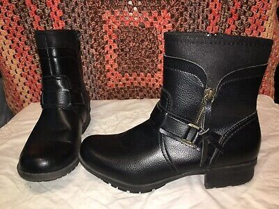 Clarks Collection Womens Black Leather