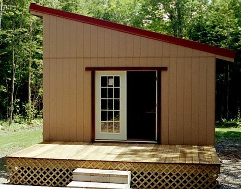 Genial Small Shed Roofed Cabin   Easy To Build   Used Country House Plans | Daily  Playhouse Tips | Pinterest | Country Houses, Cabin And Playhouses