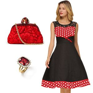 Vintage Look Spitzenkleider Petticoat Kleider