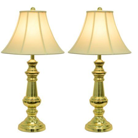 Decor Therapy 2 Pack Of Touch Control Table Lamps Polished Brass Gold Touch Table Lamps Beautiful Table Lamp Brass Table Lamps