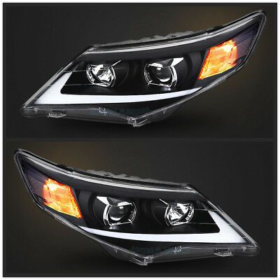 Details About Led Headlights For Toyota Camry 2012 2014 Black Housing Drl Projector In 2020 Toyota Camry Camry 2012 Camry 2010