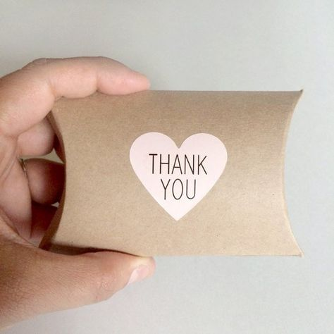 20 Pink Heart Thank You Stickers Thank You Label Wedding Heart