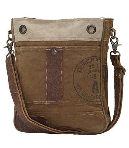 ccd1f576337d Myra Bag Myra Bags Stamped A Upcycled Canvas Shoulder Bag M-0717 ...