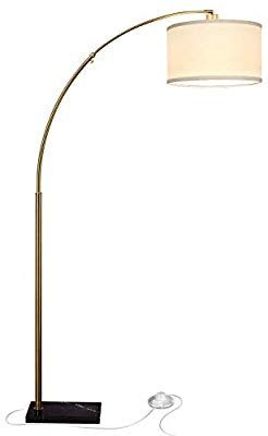 Brightech Logan Led Arc Floor Lamp With Marble Base Living Room Lighting For Behind The Couc Arc Floor Lamps Modern Living Room Lighting Living Room Lighting
