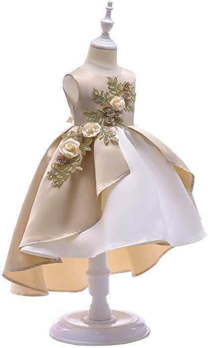 Amazon Com Aimjchld Party Dress For Toddler Little Baby Girls Flower Wedding Dresses Pageant Prom Kids Dress Patterns Kids Designer Dresses Kids Fashion Dress