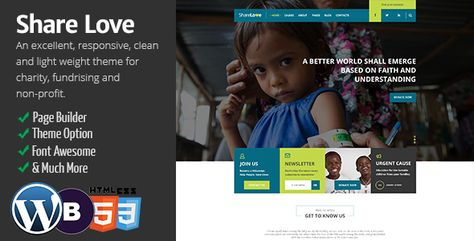 Translation Ready Appearance -> Shaelove Options -> Demo Import  Now Just follow above to import demo data  ShareLove is Non Profit concept for NGOs and Charity website to create a quick & easy donation collection platform.ShareLove is a responsive nonprofit WordPress theme that has all it takes if you are looking for a website that stands out from the crowd.T  #activity #charity #children #css #donation #fund raising #help #non profit #share love #shop #slider #woocommerce