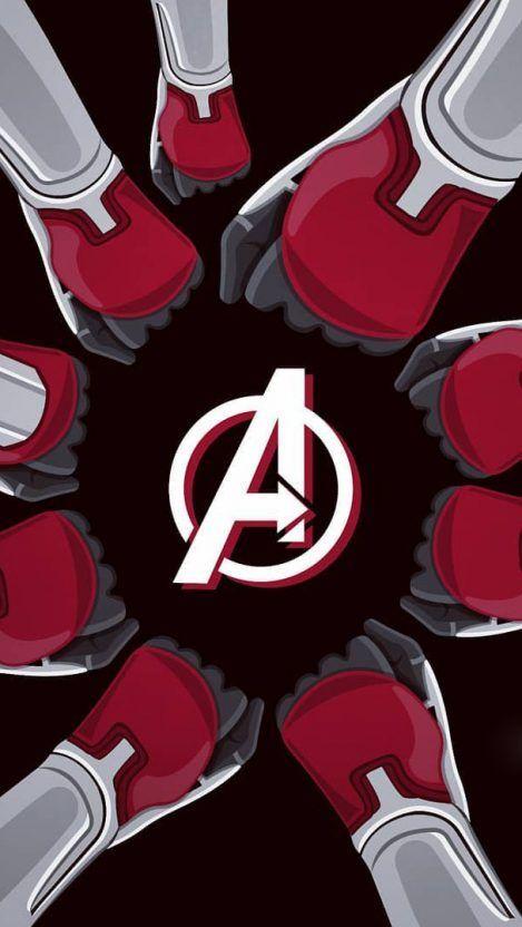 Avengers Endgame Team iPhone Wallpaper   Avengers, Magníficos, Avengers logo