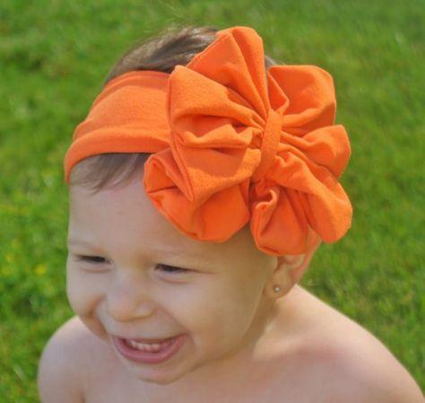 Orange Bow Headband - Orange Floppy Bow - Messy Bow Head Wrap - Big Orange  Bow f8dcd644f86