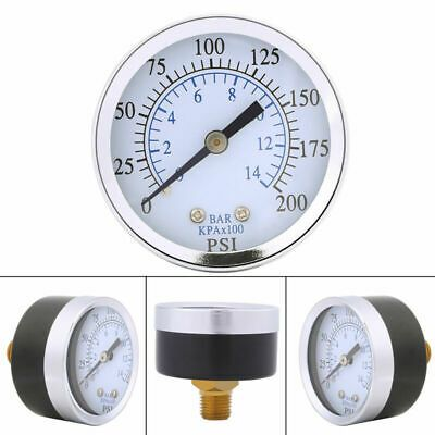 Ad Ebay Url Air Oil Water Pressure Gauge 1 4 Npt Thread Mount 0 200psi 0 14bar Double Scale Bar Oil Water Pressure Gauge Air Pressure Gauge