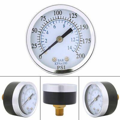 Ad Ebay Url Air Oil Water Pressure Gauge 1 4 Npt Thread Mount 0 200psi 0 14bar Double Scale Bar Oil Water Pressure Gauge Air Pressure Gauge
