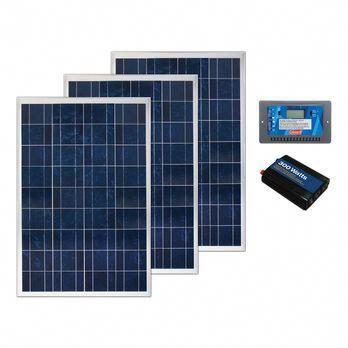Coleman 300 Watt Crystalline Solar Panel Kit With 30 Amp Charge Controller And 300 Watt Inverter Solarp In 2020 Best Solar Panels Solar Panel Kits Solar Energy Panels