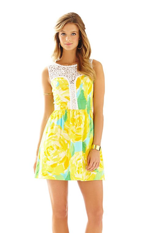Yellow Lilly Pulitzer Dress - Rhyme & Reason