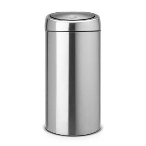 Brabantia Touch Bin Mat Rvs.Brabantia Touch Bin Recycle 2x20 Liter Prullenbak