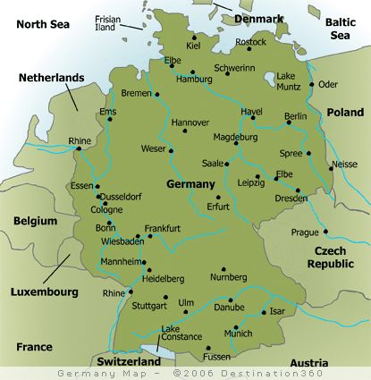 Map Of Major Cities In Germany Germany Pinterest City - Germany map showing cities
