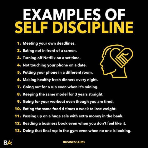 Self discipline is very important for making progress in life. - Getting distracted, watching TV, eating comfort foods, being lazy etc. is easy. - But those things will cause you to stagnate and don't make progress in life. - If you want to achieve more, you need to develop discipline gradually. - People who have a lot of self discipline understand delayed gratification. - They do hard things at first which pay off in the long term. - Follow us 👉 @businessaims for business! Follow us 👉 @theinv