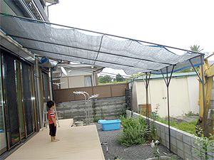 エコ uv対策巨大サンシェード イレクター 庭の小屋 節水