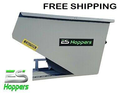 Es Hopper Wright 2 Yd Self Dumping Hopper Forklift Dumpster Hopper Free Shipping Ebay In 2020 Dumpster Forklift Material Handling