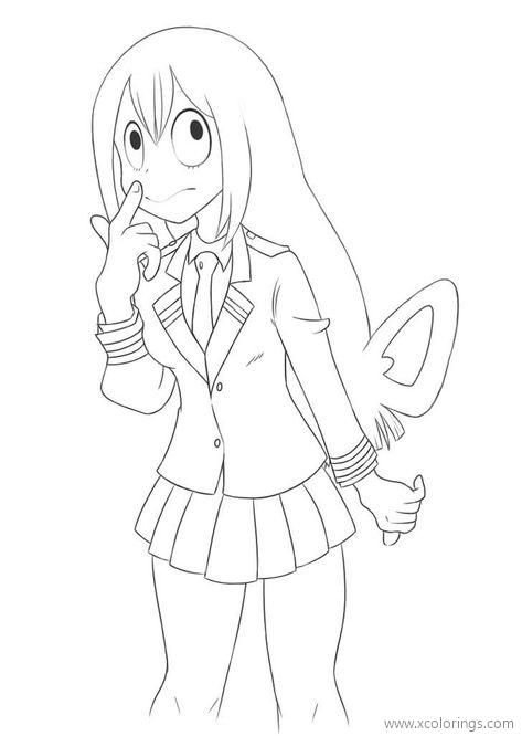 Mha Coloring Pages : coloring, pages, Academia, Coloring, Pages, Nejire, Hado., Mermaid, Pages,