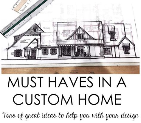 Must Haves in a Custom Home - House of Hargrove If you are building or remodeling this is for you. SO MANY great ideas of things to incorporate into your dream home. Storage, plugs, layout ideas, etc! Build Your Own House, Build Your Dream Home, My Dream Home, Build Dream Home, Dream Homes, Home Building Tips, Building Plans, House Building, Building A House Checklist