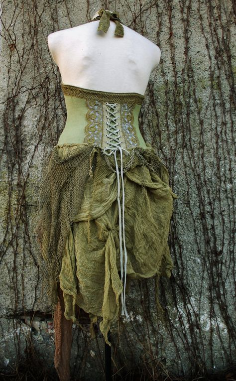 @: Victorian Forest corset tutu dress in olive green by linusmanus